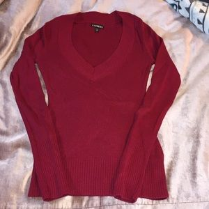 EXPRESS cranberry sweater